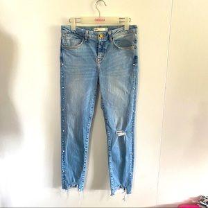 Zara Skinny Ripped Distressed Jeans